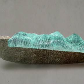 "Work of ""Stripping""International Contemporary Glass Art Invitational Exhibition 02"