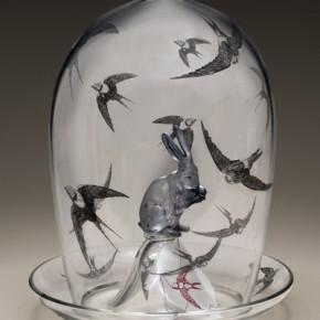 "Work of ""Stripping""International Contemporary Glass Art Invitational Exhibition 05"