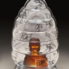 "Work of ""Stripping""International Contemporary Glass Art Invitational Exhibition 07"
