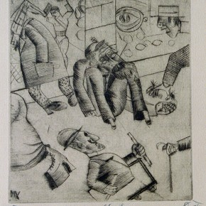 01 Otto Dix Street Corner Drypoint 24.8x22.3cm 1922 290x290 - Otto Dix Solo Exhibition tours to Guangdong Museum of Art