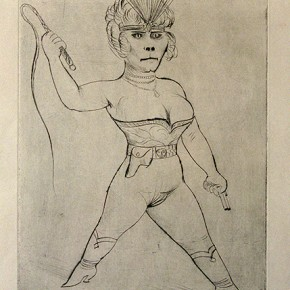 02 Otto Dix Cat Woman Drypoint 39.9x29.7cm 1922 290x290 - Otto Dix Solo Exhibition tours to Guangdong Museum of Art