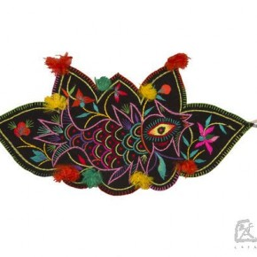 03 Fish with a chicken head and lying lotus belt to cover skirt, Luochuan of Northern Shaanxi Province