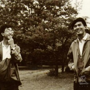 04 Chen Yifei(left) and Xia Baoyuan(right), photographed in 1973