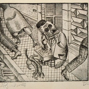 04 Otto Dix Match Pedlar Drypoint 20.9x30cm 1920 290x290 - Otto Dix Solo Exhibition tours to Guangdong Museum of Art