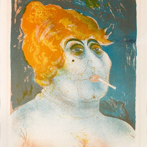 06 Otto Dix Kupplerin Colored Lithograph 48x36.8cm 1923 290x290 - Otto Dix Solo Exhibition tours to Guangdong Museum of Art