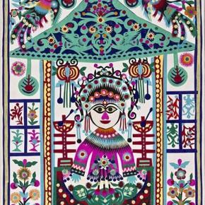 "07 Ku Shulan, ""Paper-cut Flowers Bride"", paper cut"