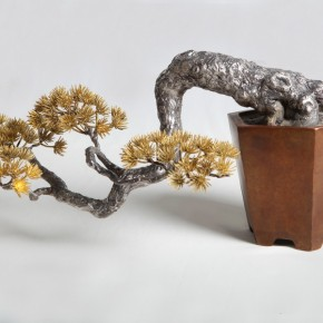"09 Guo Zilong ""Bonsai Series Season One No.8"" 44 x 28 x 20 cm bronze stainless steel 2013 290x290 - The Initiating Exhibition of ""Art Nova 100"" 2013 Held in Beijing"