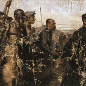 "11 Hou Yimin first draft of ""Liu Shaoqi and Anyuan Miners"" oil painting 1959 290x290 - ""Academic Interpretation Exhibition of Hou Yimin's Two Paintings of History"" Debuted at the National Art Museum of China"