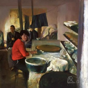 """11 Xia Baoyuan """"Kitchen Series""""  290x290 - Passing on the Torch – Exhibitions of Chen Yifei's Document and Xia Baoyuan's Works Inaugurated in Shanghai"""