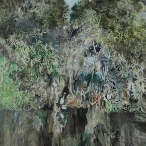 "12 He Qianli ""Jungle"" 150 x 120 cm oil on canvas 2012 290x290 - The Initiating Exhibition of ""Art Nova 100"" 2013 Held in Beijing"