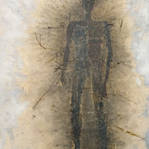 """Cai Guoqiang Self Portrait A Subjugated Soul miscellaneous gunpowder oil on canvas 167cmx118cm 1985  290x290 - Power Station of Art opens exhibition """"Portrait of the Times - 30 Years of Contemporary Art"""""""