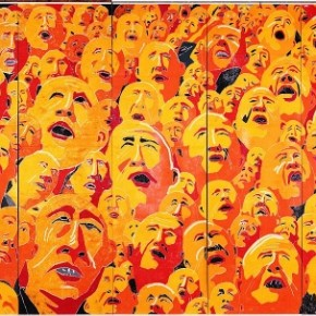 """Fang Lijun 2003.2.1 painting oil on canvas 400cmx852cmmm 2003  290x290 - Power Station of Art opens exhibition """"Portrait of the Times - 30 Years of Contemporary Art"""""""