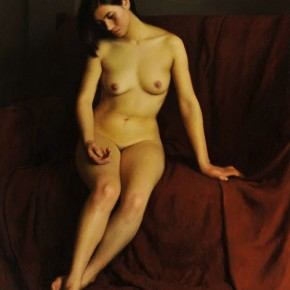 """Jin Shangyi Sitting Female Figure painting oil on canvas 100cmx80cm 1998  290x290 - Power Station of Art opens exhibition """"Portrait of the Times - 30 Years of Contemporary Art"""""""