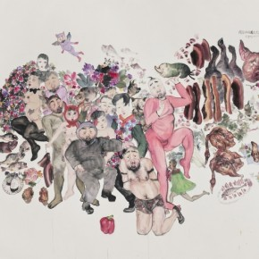 """Li Jin Our Motherland is a Beautiful Garden painting colour ink on paper 213cmx285cm 290x290 - Power Station of Art opens exhibition """"Portrait of the Times - 30 Years of Contemporary Art"""""""