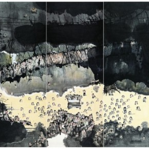 """Liu Qinghe Sepat painting Ink and Wash on Paper 490cmx960cm 2007  290x290 - Power Station of Art opens exhibition """"Portrait of the Times - 30 Years of Contemporary Art"""""""