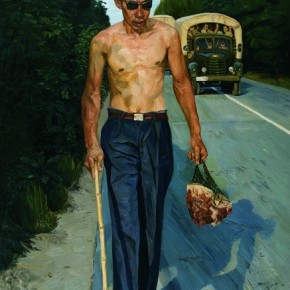 """Liu Xiaodong Walking Blindman painting oil on canvas 175cmx200cm 2004  290x290 - Power Station of Art opens exhibition """"Portrait of the Times - 30 Years of Contemporary Art"""""""