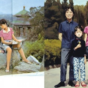 """Yu Hong With Whole Family in 12 Years 1978 painting acrylic on canvas 100cmx100cm 2000  290x290 - Power Station of Art opens exhibition """"Portrait of the Times - 30 Years of Contemporary Art"""""""