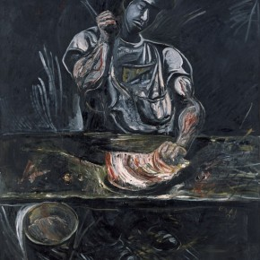 """Zhang Enli The man in the Butcher Shop No.2 painting oil on canvas 170cmx150cm 1997  290x290 - Power Station of Art opens exhibition """"Portrait of the Times - 30 Years of Contemporary Art"""""""