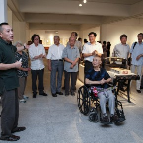 "01 Opening Ceremony of""Moistening Silently – Li Hongren's Teaching and Research Exhibition of Lithographs""  290x290 - ""Moistening Silently – Li Hongren's Teaching and Research Exhibition of Lithographs"" Opened in CAFA"