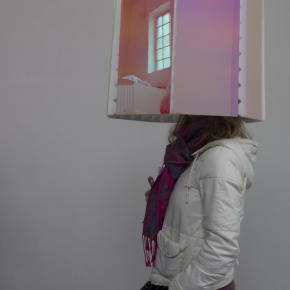 Echo Ho, Tuned for Ordinary Ears, 2012; Perspex, Metal, Bastotect Pyramidschaumstoff, 100x40cm