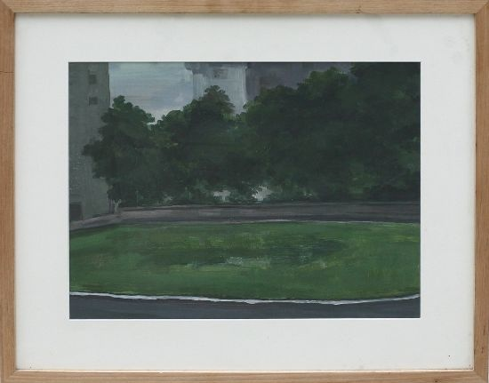 Feng Xiaoguang,  Landscape 02, 2010; acrylic on paper, 67x56x3cm(with frame),48x38cm