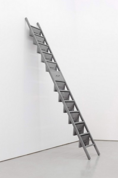 Gao Lei, A-712,2013; Stainless steel spray,lock cores,60x21x472cm