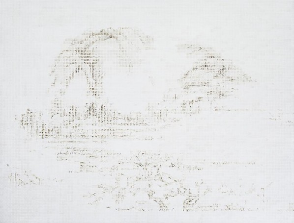 Hu Junjun, Mountain-Beginning of Spring, 2012; Oil on linen, 153x200cm