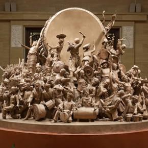 Inspiration Grand Union of Nationalities 2009 artists Cao Chunsheng Li Huidong Zhou Xiuqing Zhang Shu Sculpture 290x290 - Literary Talent and Moral Integrity—Retrospective Exhibition of Cao Chunsheng's Work over the Past Sixty Years