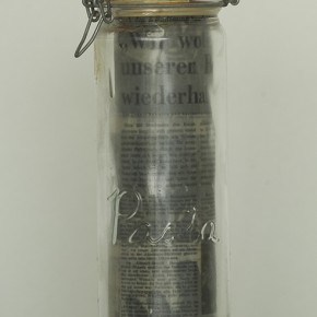 """Joseph Beuys """"Scent Sculpture"""" jar with information material essential oils chlorophyll 1978 290x290 - LaoZhu Gave a Lecture Entitled """"Reflection by Beuys"""" at CAFAM"""
