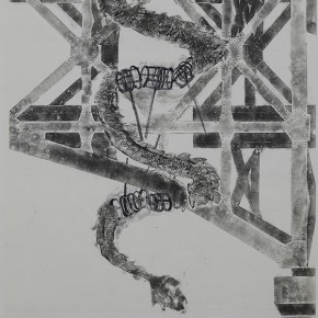"""Letter for Qiu Jiawa You can see clearly in the peace 2009 ink and wash painting190 x 500 cm 290x290 - """"Ink Files"""" in Its First Round: China and South Korea Invited Contemporary Ink Painting Exhibition"""