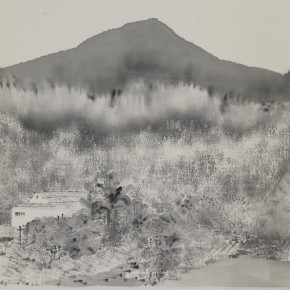 """Liu He """"Ink Sketch of Landscape No.3"""" ink on paper 64 x 44 cm 2012 290x290 - """"Ink Files"""" in Its First Round: China and South Korea Invited Contemporary Ink Painting Exhibition"""