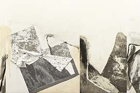 Shang Yang Remnant Mountain 2011 2013 Mixed Media on Canvas 270x1403cm 290x192 - Solo Exhibition of Shang Yang's Art Opening September 11 in Suzhou