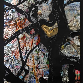 Song Xi Life of Trees Series Here and Now 2008 mixed media 267x170cm 290x290 - Darkness Visible: Group Show of Ten Artists from China and US to be Exhibited at the National Art Museum of China