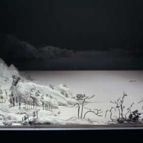 """Wang Qiang Living in Fuchun Mountains 10 2013 Mixed media 64x202x692cm 290x290 - Red Gate Gallery presents """"Creative Realms"""" featuring Wang Qiang's recent works"""