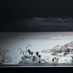 """Wang Qiang Living in Fuchun Mountains 11 2013 Mixed media 64x202x692cm 290x290 - Red Gate Gallery presents """"Creative Realms"""" featuring Wang Qiang's recent works"""