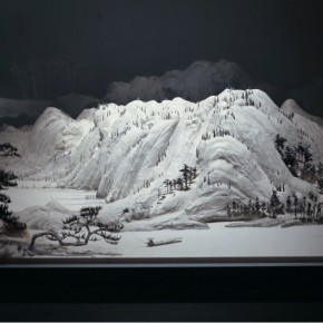 """Wang Qiang Living in Fuchun Mountains 4 2013 Mixed media 64x202x692cm 290x290 - Red Gate Gallery presents """"Creative Realms"""" featuring Wang Qiang's recent works"""
