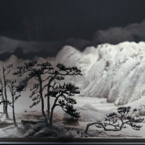 """Wang Qiang Living in Fuchun Mountains 5 2013 Mixed media 64x202x692cm 290x290 - Red Gate Gallery presents """"Creative Realms"""" featuring Wang Qiang's recent works"""
