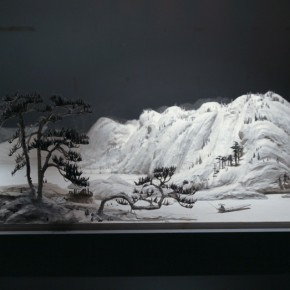 """Wang Qiang Living in Fuchun Mountains 7 2013 Mixed media 64x202x692cm 290x290 - Red Gate Gallery presents """"Creative Realms"""" featuring Wang Qiang's recent works"""