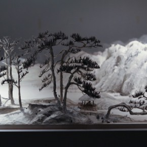 """Wang Qiang Living in Fuchun Mountains 9 2013 Mixed media 64x202x692cm 290x290 - Red Gate Gallery presents """"Creative Realms"""" featuring Wang Qiang's recent works"""