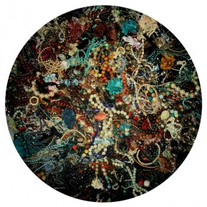 """Wang Qiang Rock and Flower No.1 2013 Oil on canvas Diameter 300cm 290x290 - Red Gate Gallery presents """"Creative Realms"""" featuring Wang Qiang's recent works"""