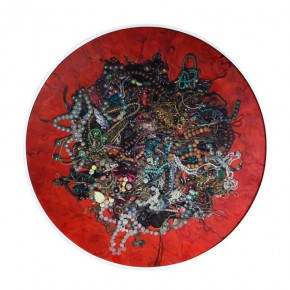 """Wang Qiang Virtual Love No. 1 2013 Oil on canvas Diameter 120cm 290x290 - Red Gate Gallery presents """"Creative Realms"""" featuring Wang Qiang's recent works"""