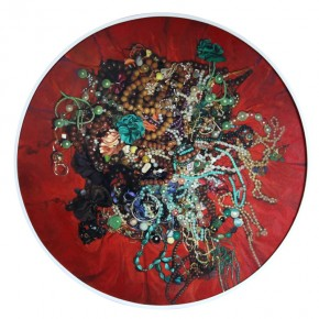 """Wang Qiang Virtual Love No. 2 2013 Oil on canvas Diameter 120cm 290x290 - Red Gate Gallery presents """"Creative Realms"""" featuring Wang Qiang's recent works"""