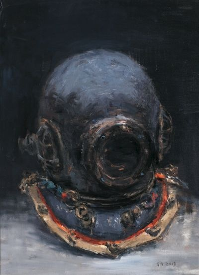Xiang Nan, Iron Shell in Deepwater, 2013; Oil on canvas, 52x70x3cm,2013