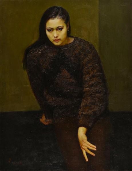 "Zhan Jianjun, ""Ling Ni"", oil on canvas, 117 x 91 cm, 1983"