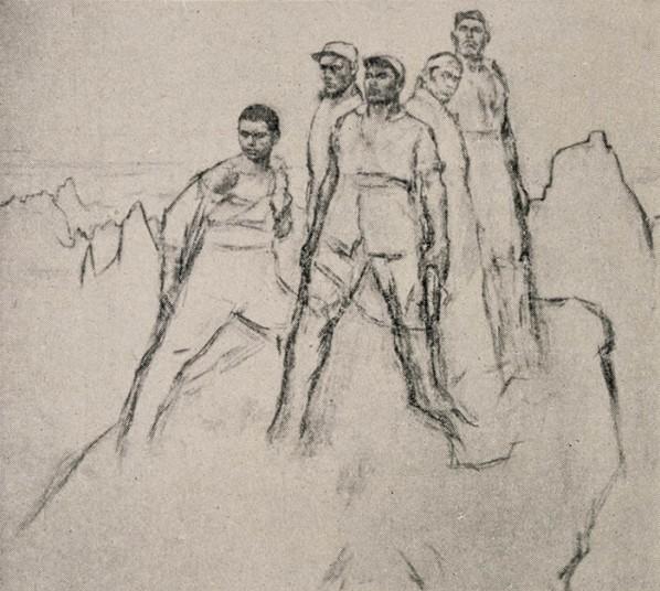 Zhan Jianjun, Heroes on Langya Mountain, drawing