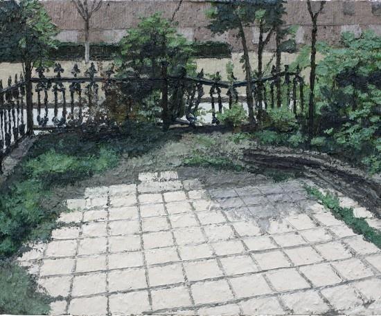 Zhang Yexing, Sketch-Yard, 2013; Oil on canvas, 60cmX50cm