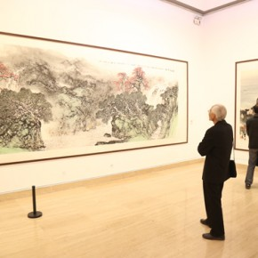 04 Exhibition View 290x290 - Pave in the Magnificent Land – Landscape Painting Exhibition by Hao Hejun