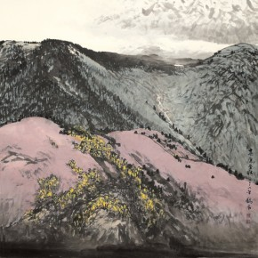 10 Work by Hao Hejun 290x290 - Pave in the Magnificent Land – Landscape Painting Exhibition by Hao Hejun