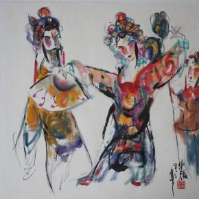 "13 Guan Qijun Drunken 50cm x 50cm 290x290 - ""Peony Pavilion: 2013 Chinese Opera Figures by Guan Qijun"" Opening October 26 at Chi Han Art Museum"