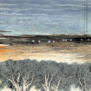 14 Work by Hao Hejun 290x290 - Pave in the Magnificent Land – Landscape Painting Exhibition by Hao Hejun